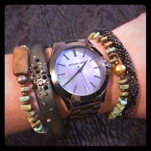 Silpada Turquoise stretchy bracelets